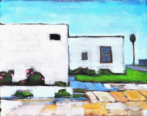 San Diego Urban Landscape Painting