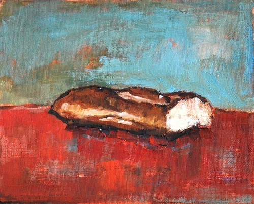 Still Life With French Bread Baguette Painting