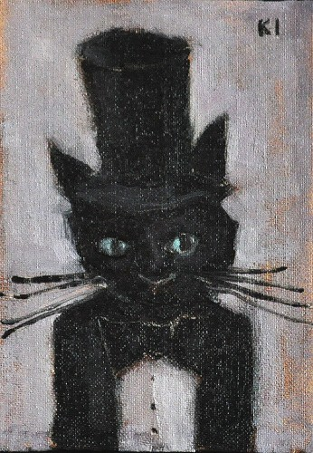 Cat in a Tuxedo and Top Hat