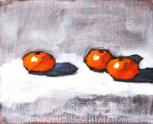 Kitchen Decor Fruit Still Life Painting- Oranges
