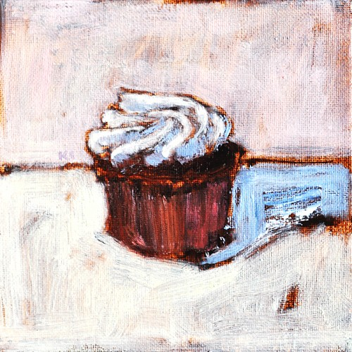 Cupcake Painting- Original Art