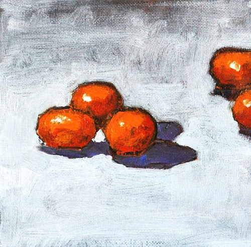 Still Life Fruit Oil Painting, Kumquats- by Kevin Inman